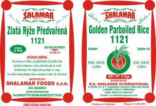 Shalamar Golden Parboiled Rice 5kg